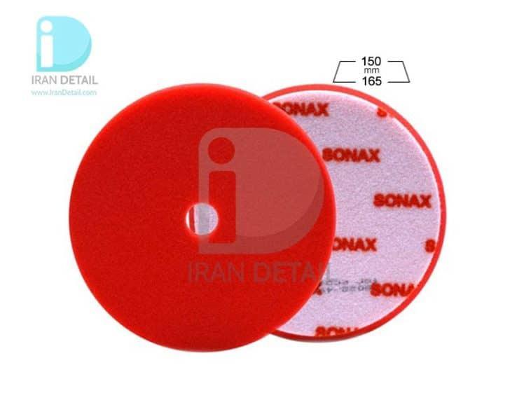 اسفنج پولیش قرمز دو کاره زبر سوناکس SONAX Polishing Sponge Red 165 Dual Action Cut Pad