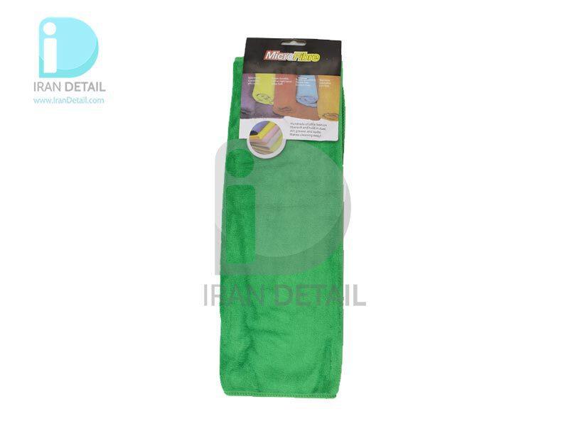 دستمال مایکروفایبر 40*40 سبز مخصوص پولیش و واکس خودرو