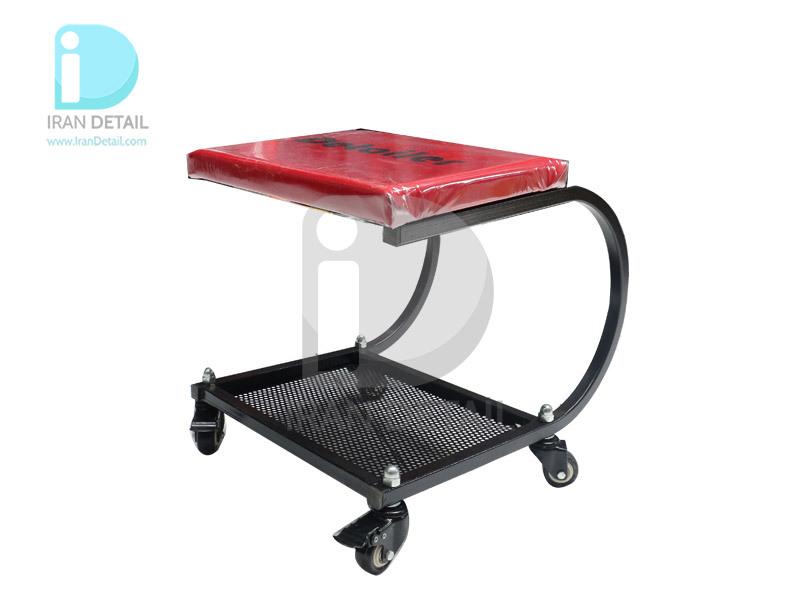 صندلی چرخدار تعمیرگاهی مدل Detailer قرمز