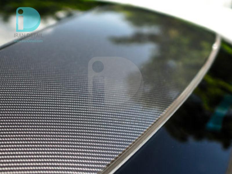 کاور محافظتی پی وی سی مخصوص خودرو رول 25 متری هکزیس مدل Hexis SkinTac HX30CAONEB Carbon One Gloss Carbon Fibre