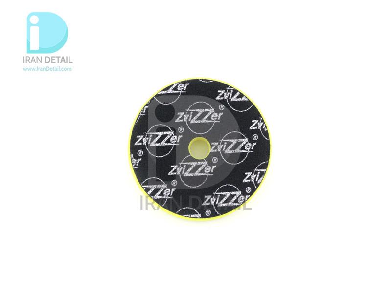 پد پولیش نرم اوربیتال زرد زیزر 125 ميلی متری مدل Zvizzer Trapez Pads Yellow Finishing Pad TR00014525FC