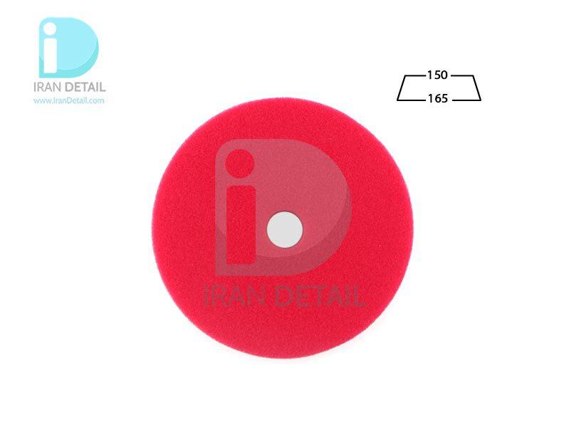 پد پولیش زبر اوربیتال قرمز زیزر 150 ميلی متری مدل Zvizzer Trapez Pads Red Cutting Pad TR00016525HC
