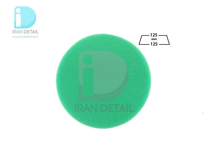 پد پولیش زبر روتاری سبز 125 میلی متری اس آر اس مدل SRS Rotary Hard Polishing Pad Green