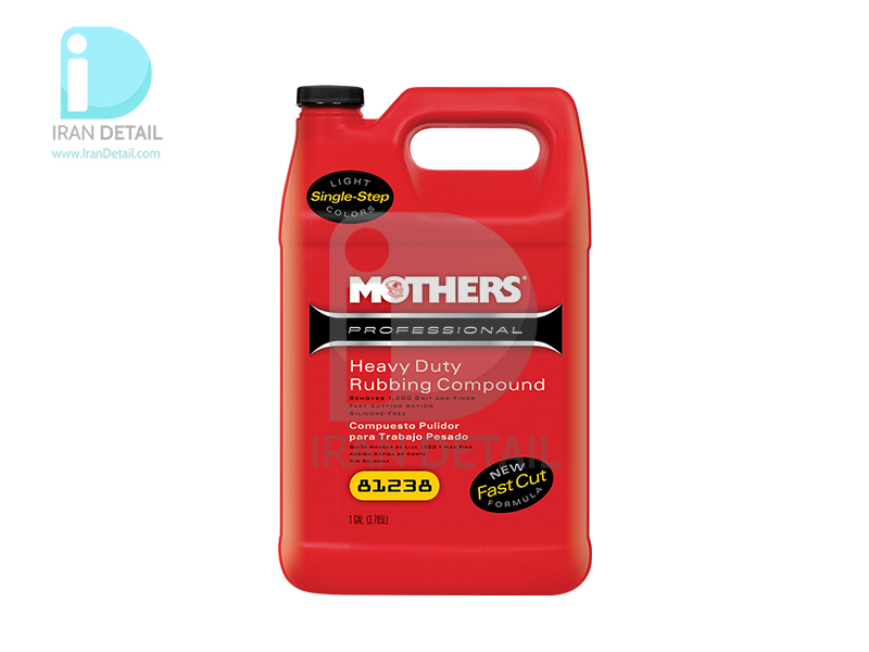 مایع پولیش زبر حرفه ای لایه بردار 4 ليتری مادرز مدل Mothers Professional Heavy Duty Rubbing Compound 81238