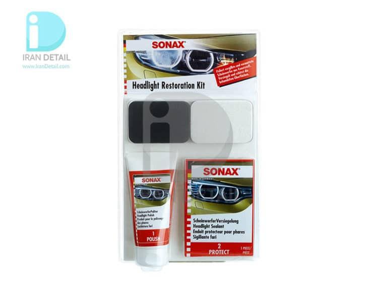 کیت کامل پولیش و ترمیم چراغ خودرو سوناکس Sonax Headlight Restoration KIT