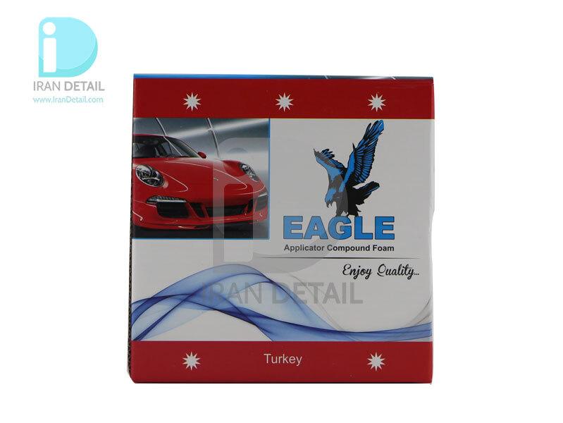 پد زبر روتاري سفيد همراه صفحه پليت 150 ميلي متري ايگل مدل Eagle Applicator Coarse Pad