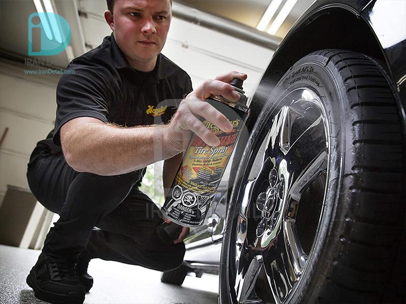 اسپری گازی واکس لاستیک براق هات شاین مگوایرز مدل Meguiars Hot Shine Tire Coating G13815