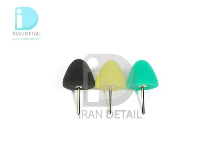 کیت پد پولیش مخروطی 3 عددی سورین بو مدل SURAINBOW Detail Polisher Cone Pad t015