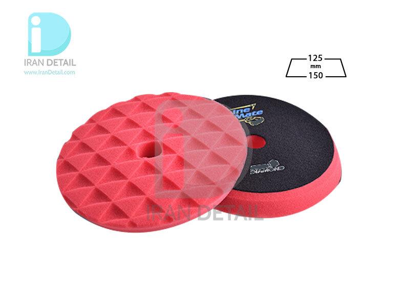 پد پولیش نرم دوکاره قرمز 125 میلی متری شاین میت مدل ShineMate Finishing Foam Pad Red T10