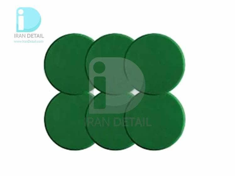اسفنج پولیش متوسط سبز 80 میلی متری 6 عددی سوناکس SONAX Polishing Sponge Green 80 Medium Sixpack