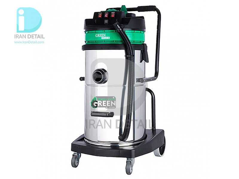 جاروبرقی سه موتور آب و خاک اتوماتیک گرین مدل Green Vacuum Cleaner Wet & Dry H703A