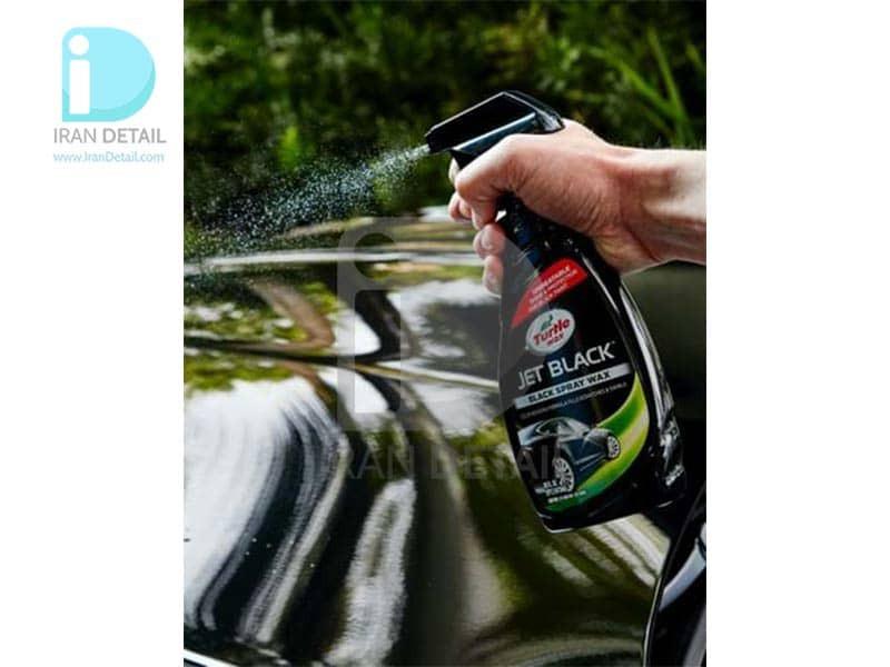 اسپری واکس بدنه خودرو مخصوص رنگ های مشکی ترتل واکس مدل Turtle Wax Jet Black Spray Wax