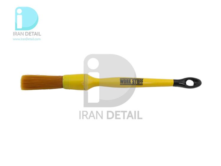 قلم دیتیلینگ سایز 16 آلبینو نارنجی ورک استاف مدل Work Stuff Detailing Brush Albino Orange 16mm