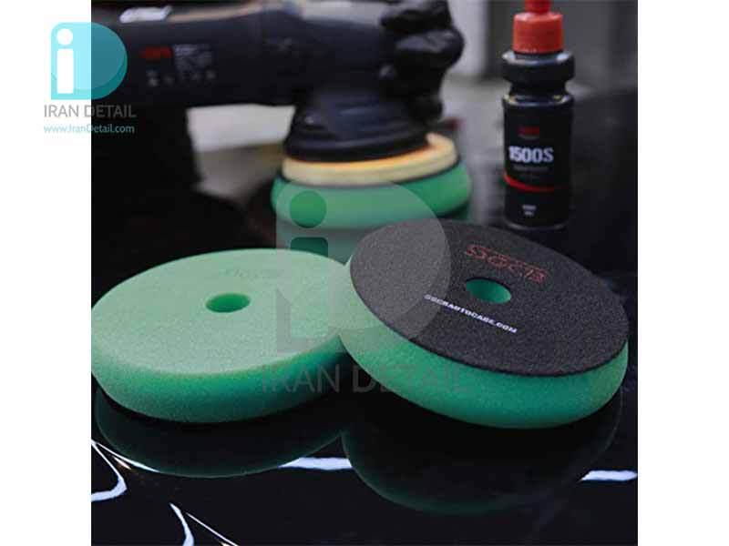 پد پولیش متوسط سبز اس جی سی بی 130 میلی متری SGCB Foam Cutting Pad Hook & Loop Green 5inches SGGA100