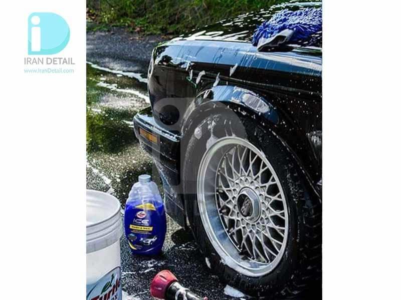 شامپو واکس 1.5 لیتری ترتل واکس مدل Turtle Wax Ice Wash & Wax