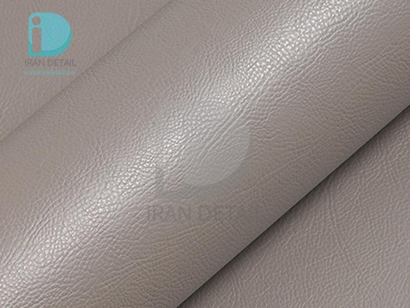 کاور محافظتی پی وی سی مخصوص خودرو رول 25 متری هکزیس مدل Hexis SkinTac HX30PGGTAB Fgrain Leather Taupe Grey Gloss
