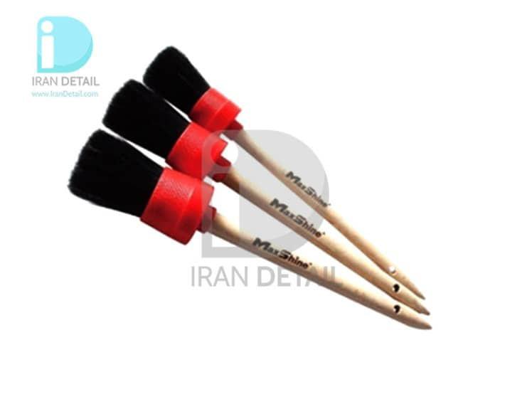 کیت قلم دیتیلینگ 3 عددی مکس شاین 704610 MaxShine Professional Detailing Brushes