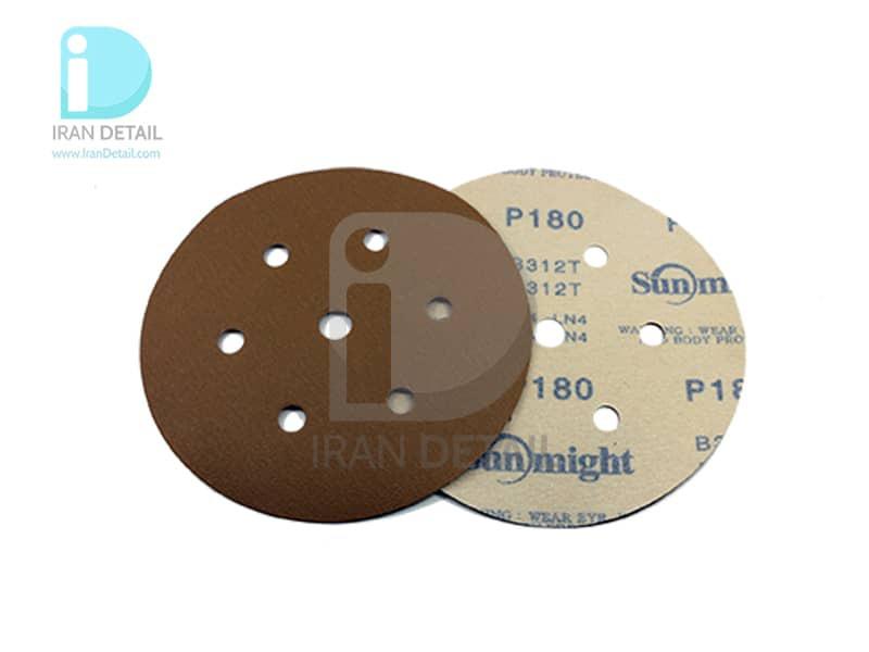 ورق سنباده دیسکی (دایره ای) سان مایت مدل Sunmight Abrasive Sheet P180