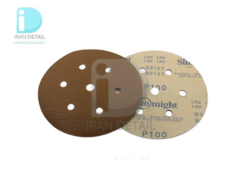 ورق سنباده دیسکی (دایره ای) سان مایت مدل Sunmight Abrasive Sheet P100