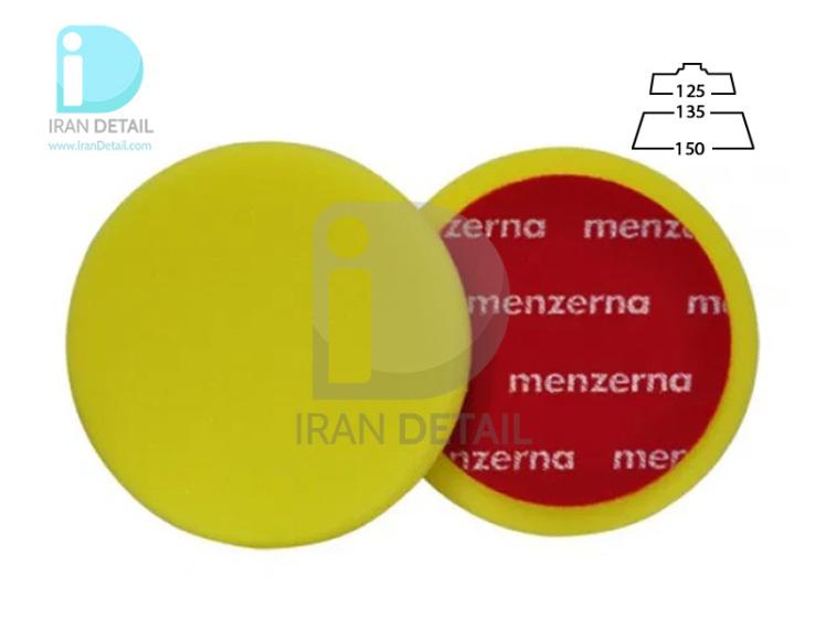 پد پولیش متوسط روتاری 135 میلی متری زرد منزرنا مدل Menzerna Polishing Pad Medium Yellow 135mm