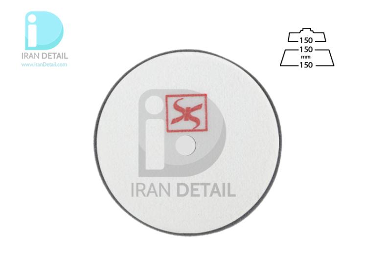 پد واکس و آنتی هولوگرام روتاری مشکی 150 میلی متری اس آر اس مدل SRS Rotary Ultra Fine Polishing Pad Black R16025150B