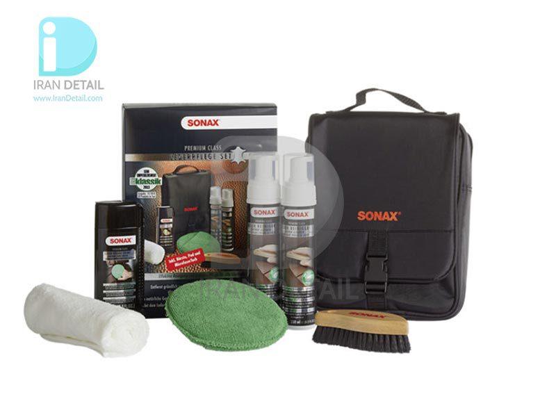 کیت تمیز کننده و محافظ چرم سوناکس مدل SONAX PremiumClass Leather Care Set