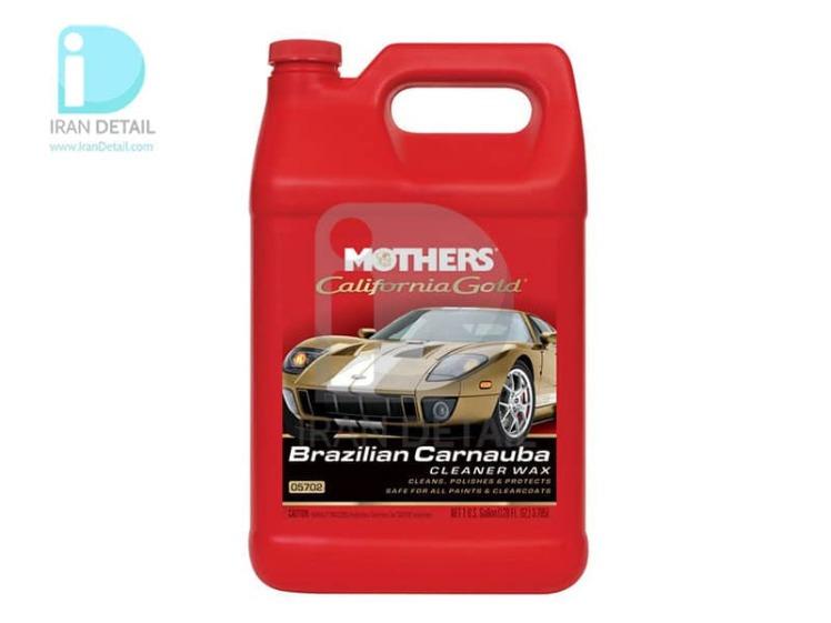 واکس و پولیش مایع 4 ليتري کارنابای برزیلی مادرز 5702 Mothers Brazilian Carnauba Cleaner Wax, Gallon