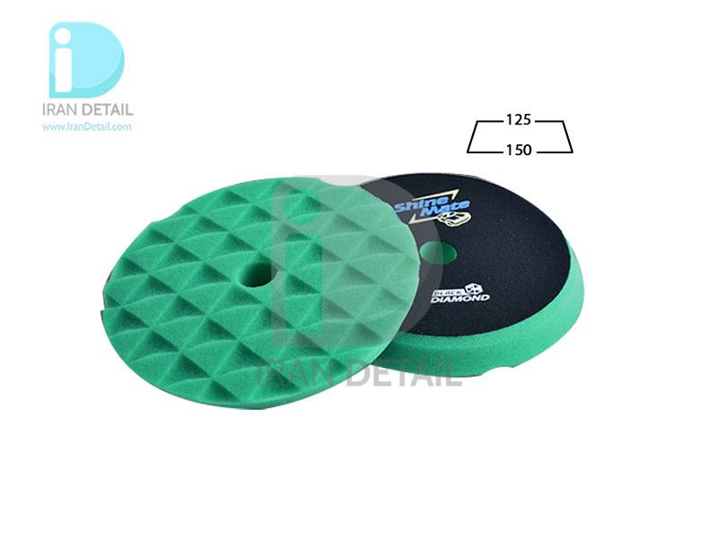 پد پولیش خیلی زبر دوکاره سبز 125 میلی متری شاین میت مدل ShineMate Heavy Cut Foam Pad Green T120