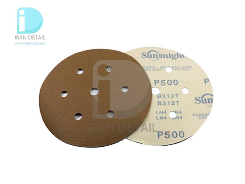ورق سنباده دیسکی (دایره ای) سان مایت مدل Sunmight Abrasive Sheet P500