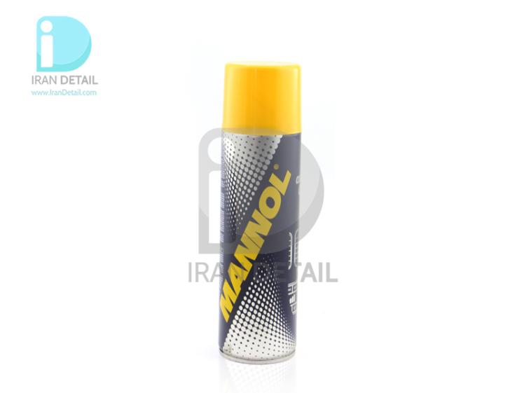 اسپری تهویه مطبوع و تمیزکننده سیستم گردش هوا خودرو مانول مدل MANNOL Air Conditioner Cleaner 9971