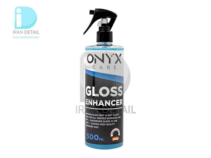 اسپری آبگریزکننده و براق کننده خودرو اونیکس مدل Onyx Care Gloss Enhancer 500ml
