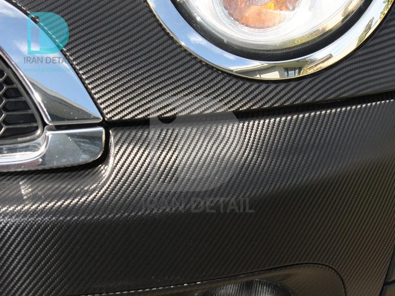کاور محافظتی پی وی سی مخصوص خودرو رول 25 متری هکزیس مدل Hexis SkinTac HX30CA890B Black Carbon Gloss