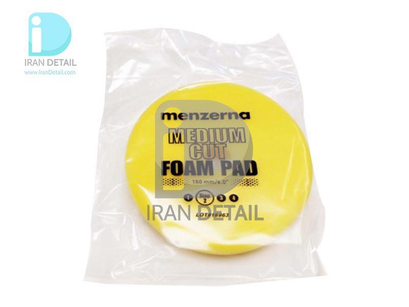 پد پولیش متوسط زرد سایز 150میلی متری منزرنا Menzerna Medium Cut Foam Pad 150mm