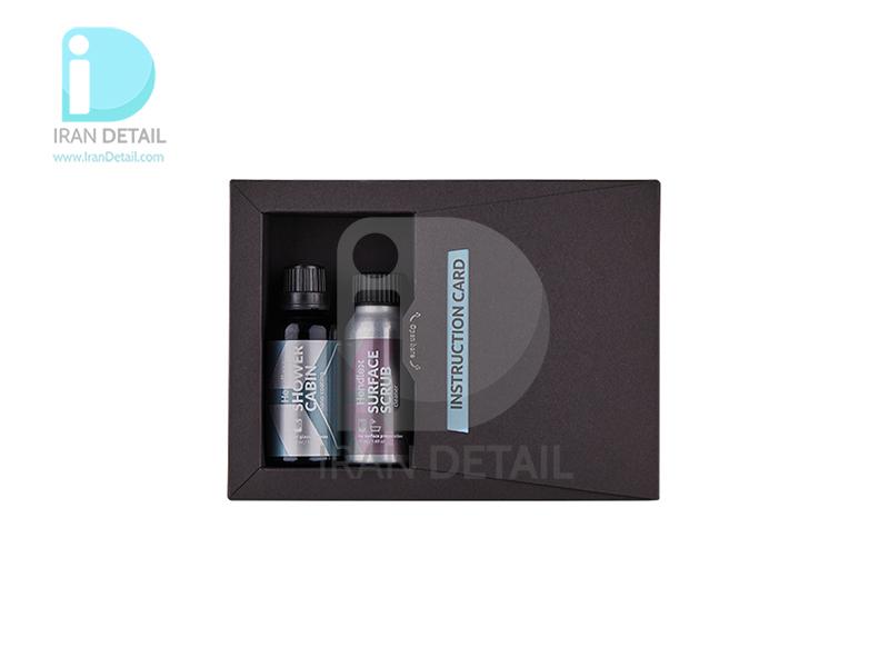 کیت پوشش نانو آبگریزکننده و محافظ سطوح شیشه ای کابین حمام هندلکس مدل Hendlex Shower Cabin Protection Set