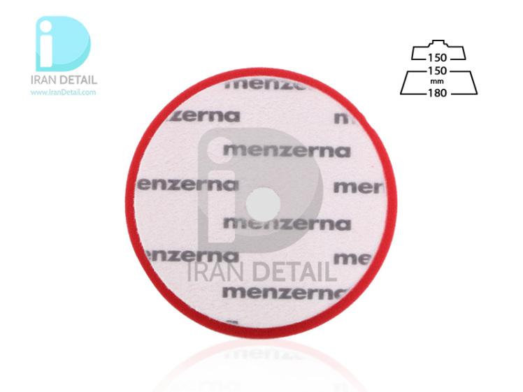 پد پولیش زبر قرمز سایز 150 میلی متری منزرنا Menzerna Heavy Cut Foam Pad 150 mm