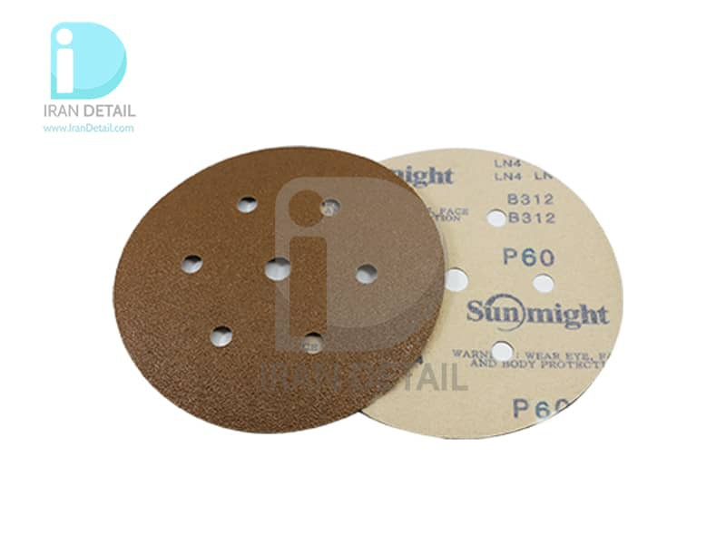 ورق سنباده دیسکی (دایره ای) سان مایت مدل Sunmight Abrasive Sheet P60