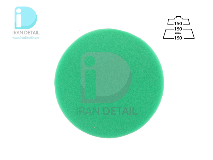 پد پولیش زبر روتاری سبز 150 میلی متری اس آر اس مدل SRS Rotary Hard Polishing Pad Green
