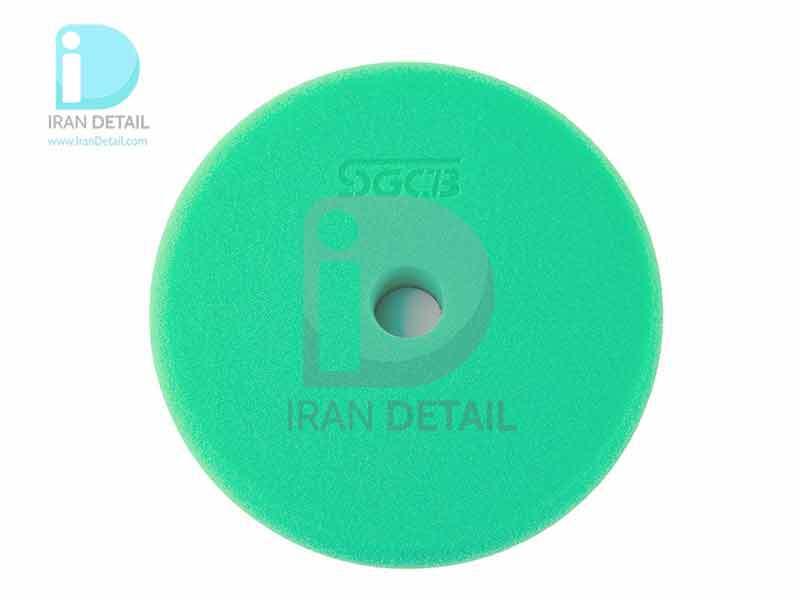 پد پولیش زبر سبز اس جی سی بی 75 میلی متری SGCB Foam Cutting Pad Hook & Loop Green 3inches SGGA105