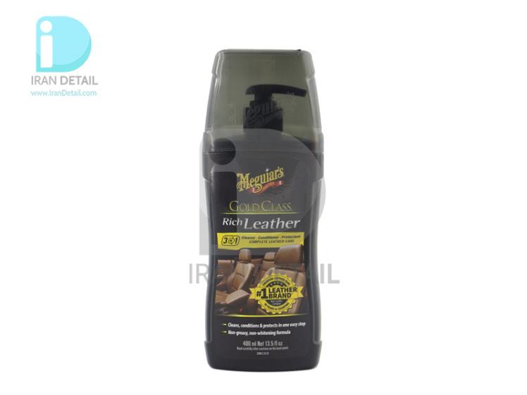 مایع تمیزکننده، نرم کننده و محافظ چرم گلد کلاس مگوایرز مدل Meguiars Gold Class Rich Leather G17914