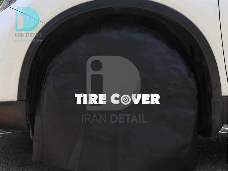 کیت چهار عددی کاور تایر مشکی مدل Cover Tire kit Black