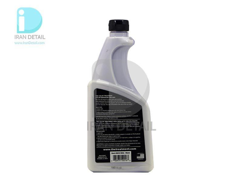 واکس حرفه ای رنگ سفید تریت منت مدل The Color Treatment White Enhanced Car Wax -