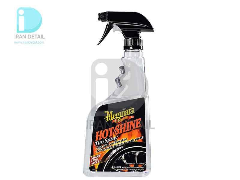 اسپری واکس لاستیک براق هات شاین مگوایرز مدل Meguiars Hot Shine High Gloss Tire Spray G12024