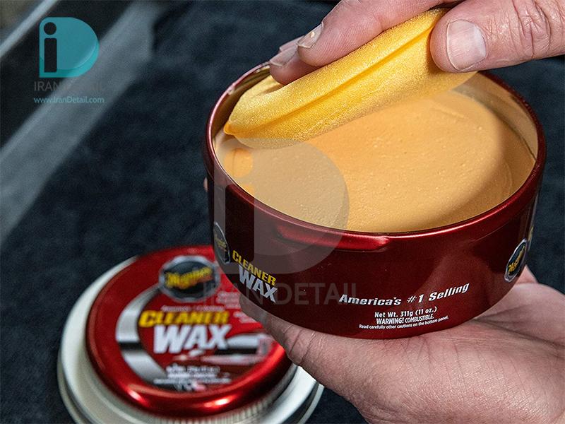 واکس خمیری تمیزکننده، پولیش و براق کننده بدنه خودرو مگوایرز مدل Meguiars Cleaner Wax A1214