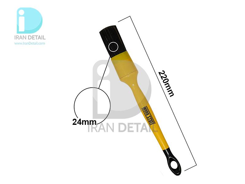 قلم دیتیلینگ سایز 24 مشکی ورک استاف مدل Work Stuff Detailing Brush Black 24mm