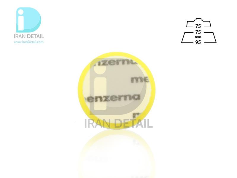 پد پولیش متوسط زرد سایز 75 میلی متری منزرنا Menzerna Medium Cut Foam Pad 75 mm
