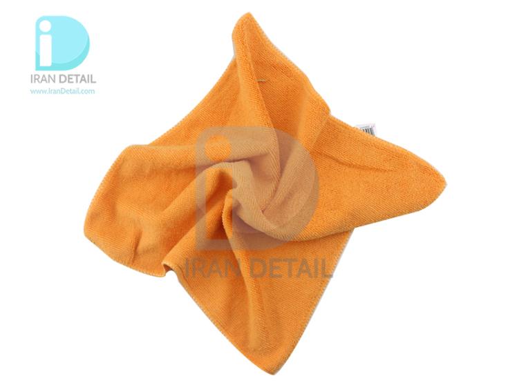 دستمال مایکروفایبر 40 در 40 نارنجی مدل Microfiber Cloth Orange 40*40 cm
