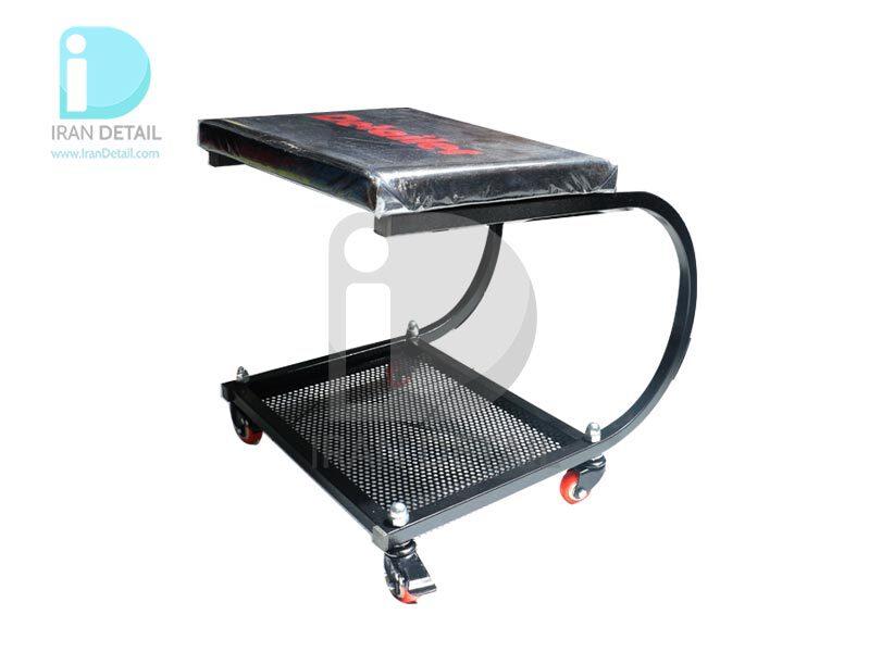 صندلی چرخدار تعمیرگاهی مدل Detailer مشکی