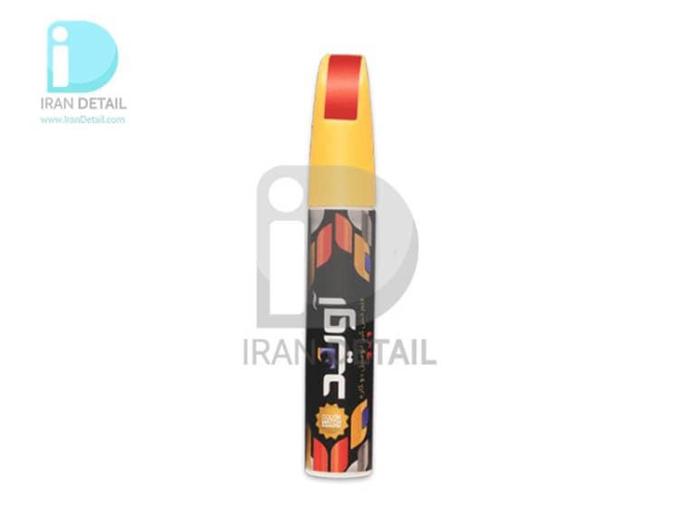 قلم خش گیر رنگ بدنه ماشین تیبا نوک مدادی متالیک کد رنگ 9175509 Tiba Metallic Gray