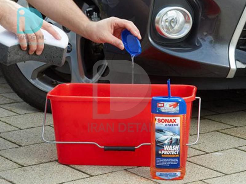 شامپو محافظ بدنه و آبگریز کننده اکستریم سوناکس مدل SONAX Xtreme Wash & Seal