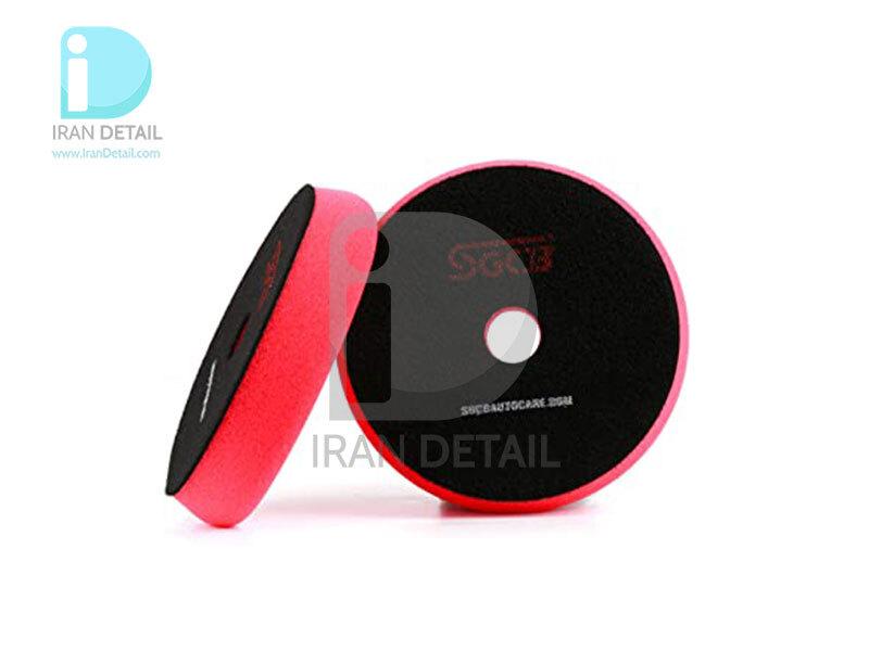 پد پولیش بسیار نرم قرمز اس جی سی بی 75 میلی متری SGCB High Foam Cutting Pad Hook & Loop Red 3inches SGGA108